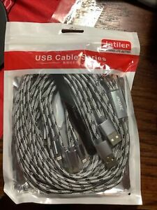 Jatiler USB multi changer cables 10ft  IPhone , C, and Android