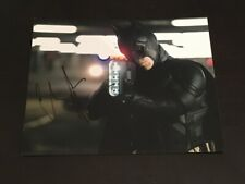 """Christian Bale In Person Signed """"The Dark Knight Rises"""" 10x8 Photo+Proof+COA #2"""