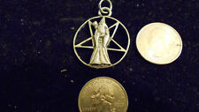 bling pewter 5 POINT STAR myth wizard pendant charm rope chain hip hop necklace