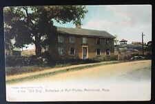 """MARBLEHEAD, MASS. C.1905 PC. """"OLD BRIG"""" BIRTHPLACE OF MOLL PITCHER (CLAIRVOYANT)"""