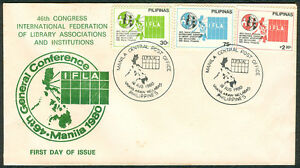 1980 Phil 46th Congress International Federation Of Library Association FDC