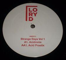 "Strange Days Vol 1 Lory D~ULTRA-RARE 2011 UK Import Acid Techno 12""~VG++ Vinyl"