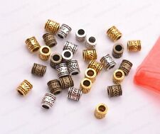 20/50/100Pcs Tibetan Silver Big Hole Spacer Beads Jewelry Findings F3028