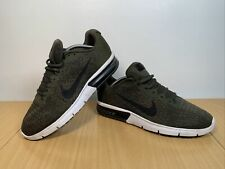 NIKE AIR MAX SEQUENT 2 KHAKI GREEN TRAINERS SIZE UK 10 EU 45