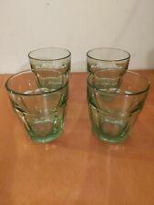 4-Green Bormioli Rocco Rock Bar Lounge Drinking Glass, Set of 4 Retro Bar ware