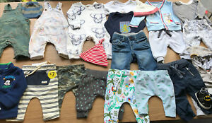 Baby Boys Bundle Of Winter Christmas Clothes Age 0-3 3-6 Months Mickey Batman