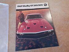 1969 MUSTANG SHELBY GT350 GT500  ORIGINAL DEALER SALES BROCHURE W/ CARROLL 69