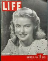 Life Magazine November 12 1945 Ingrid Bergman Photo Cover War Crimes Trials