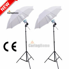 Photo 2x135W Photography Umbrella Continuous Studio Lighting Kit Light Stand Set