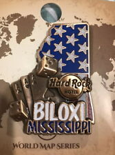 Hard Rock Hotel BILOXI 2017 3-D WORLD MAP Series PIN New with Card LE 100?