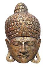 Bois Bouddha Masque,Sculpture Bouddha,Masque en Bois,Thai Buddah Figurine,Buda