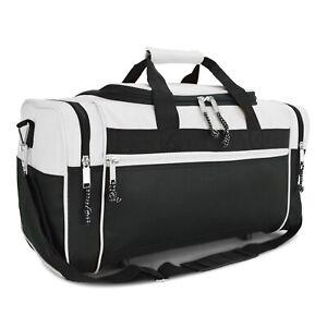 "21"" Blank Duffle Bag Sports Travel Luggage Gym Gear Bag in White"