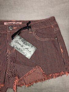 New  Celebrity Pink Denim Stretchy Girl's Women's Junior Shorts  Sz 7   Cotton