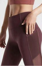 Athleta Vitality Stash Pocket 7/8 TIght  Size XS Antique Burgundy NWT.