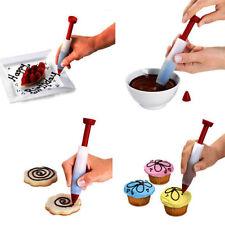 Silicone Fondant Cake Pen Pastry Icing Writing Syringe Baking Decor Tools NEW
