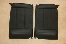 Porsche 991 Carrera 911 Turbo GT2 Rear Upper Back Seats Black Leather Alacantara
