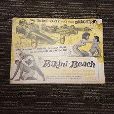 Bikini Beach Advertising Booklet Beach Party Gang Goes Dragstrip Stevie Wonder
