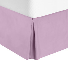 Luxury Pleated Tailored Bed Skirt - 14� Drop Dust Ruffle,Cal King-Lavender Dream