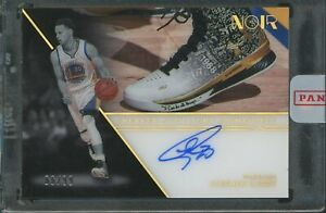 2020-21 Panini Noir Sneaker Spotlight Stephen Curry Signed AUTO 66/99 Warriors