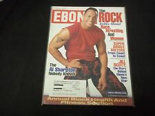 2001 JULY EBONY MAGAZINE - THE ROCK WWE - GREAT FRONT COVER - O 263