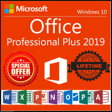 Microsoft Office 2019 Professional Plus 32/64 Offical Key Instant Delivery