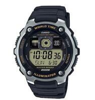 Casio AE2000W-9A Black Digital Sports Watch, 200M WR , 5 Alarms, World Time