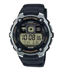 Casio AE2000W-9A Black Digital Sports Watch, 200M WR , 5 Alarms, World Time