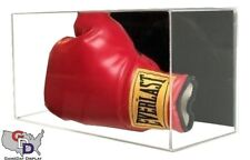 Acrylic Wall Mount Horizontal Boxing Glove Display Case UV Protecting Full Size
