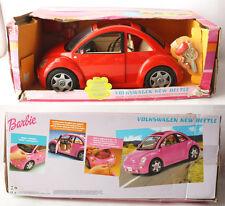 RARE BARBIE VOLKSWAGEN NEW BEETLE RED CAR MATTEL 2000 NEW UNUSED BROKEN MIRROR