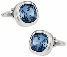 Denim Blue Crystal Cufflinks Direct from Cuff-Daddy
