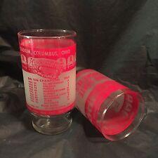(2) vintage OHIO STATE BUCKEYES glasses-1972-OHIO STADIUM 50th-NCAA football
