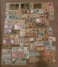 Lot of 61 Vintage Foreign World Currency Paper Money Bank Notes Bills Marks