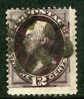 USA 1873 Continental 12¢ Clay Fancy Scott 162 VFU I394 ⭐⭐⭐⭐⭐⭐