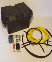 Honda Civic Red 0 Gauge H Series Battery Relocation Kit