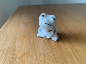 Ceramic bone china white Frog Light Pull with Cord - Fan/Shower Pull Cord Handle