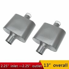 Pair Of 225 In Out Center Performance Race Chambered Mufflers Universal