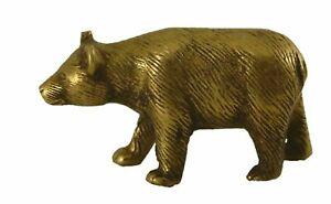 Bear Shape Figurine Antique Style Handmade Brass Statue Figure Idol Paper Weight