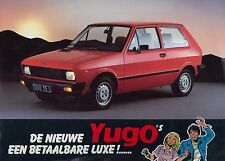 1985 ZASTAVA YUGO 45, 45 L / 55L, 55 GLS DATENBLATT LEAFLET NIEDERLÄNDISCH