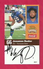 Jessamen Dunker 2017 Senior Bowl Tennessee State Tigers Signed New York Giants A