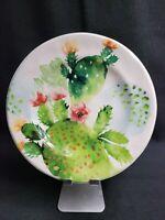 Pier 1 Ironstone Desert Cactus 1 Dinner Plates 3 Salad Plates Gorgeous!!