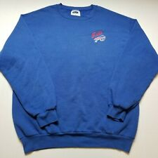 Vtg NFL Buffalo Bills Mens Sweatshirt sz L Blue CSA Pullover Football L34