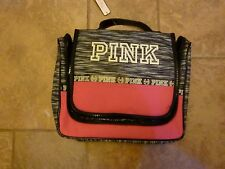 VICTORIAS SECRET PINK MARLED ZIP AROUND MULTI-USE COSMETIC/MAKEUP TRAVEL BAG NWT