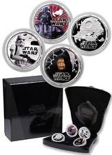 Star Wars Proof Silver 4-Coin Set - Dark Side Darth Vader NIUE 2011