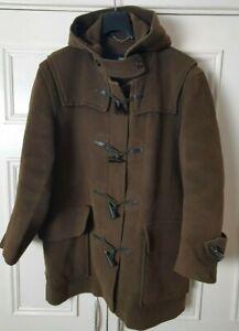 Burberry London Ladies Green Duffle Coat 100% More Size Medium 44 chest