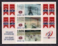 Canada 2009 #2340 Ice Hockey Hologram MNH sheet WS14948