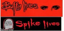 Lot 2 autocollants Buffy et Spike officiels Buffy and Spike sticker lot