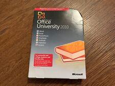 Microsoft Office University 2010 Full Retail Version on DVD