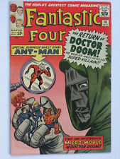 FANTASTIC FOUR # 16  US MARVEL 1963   1st Ant Man x-over, Wasp app  KIRBY FN