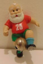 1993 Enesco Ornament!!! Santa Playing Soccer with a Jingle Bell Ball!!!