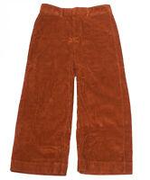 Gap High Rise Wide-Leg Crop Strech Fit Orange Women's Corduroy Pants NEW 10 X 14